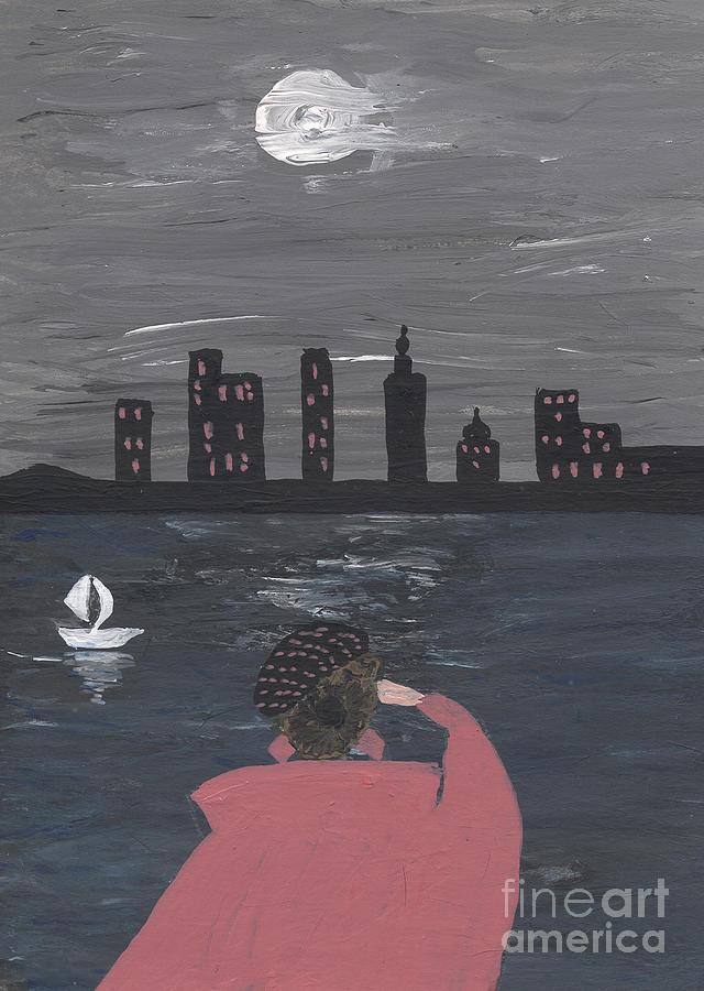 Spirit Painting - New York full moon fairy tale by Heidi Sieber