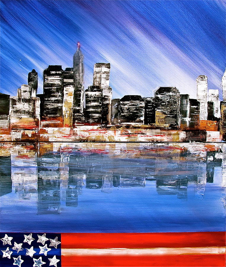Cityscape Painting - New York by Heather Matthews