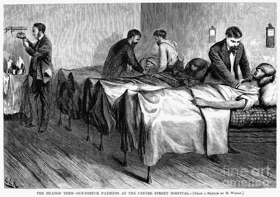 1876 Photograph - New York: Heatstroke, 1876 by Granger