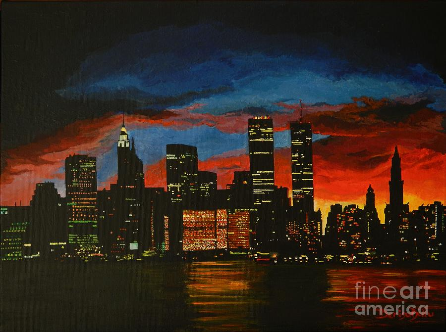 Landscape Painting - New York In Glory Days by Denisa Laura Doltu