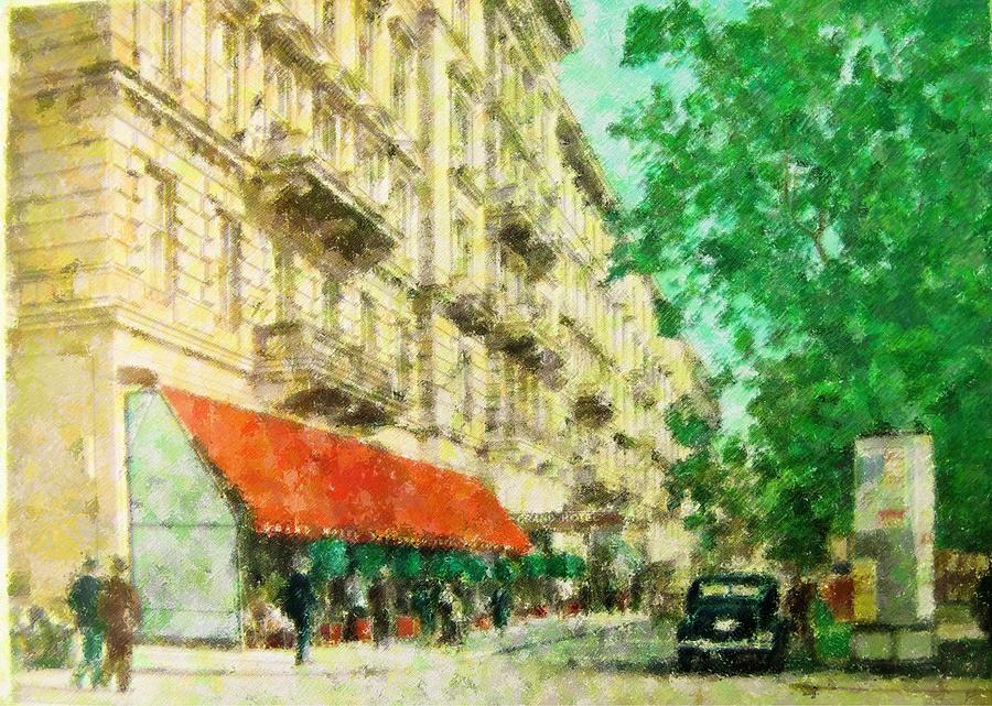 New York Mixed Media - New York In The Forties by Florene Welebny