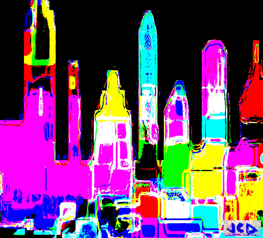 New York Digital Art - New York Is Rejoicing by Jean-Claude Delhaise