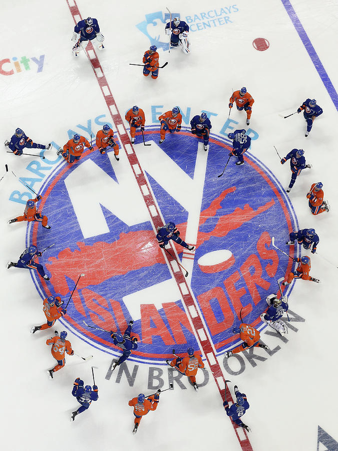 New York Islanders Training Session Photograph by Bruce Bennett
