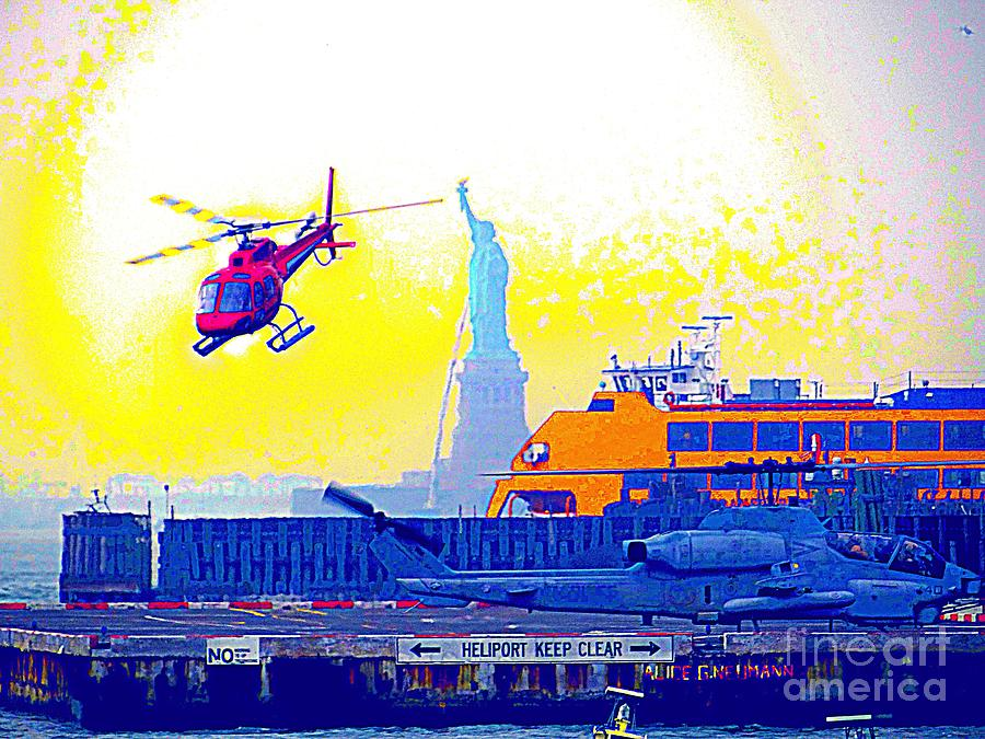 Helicopter Photograph - New York Life by Ed Weidman