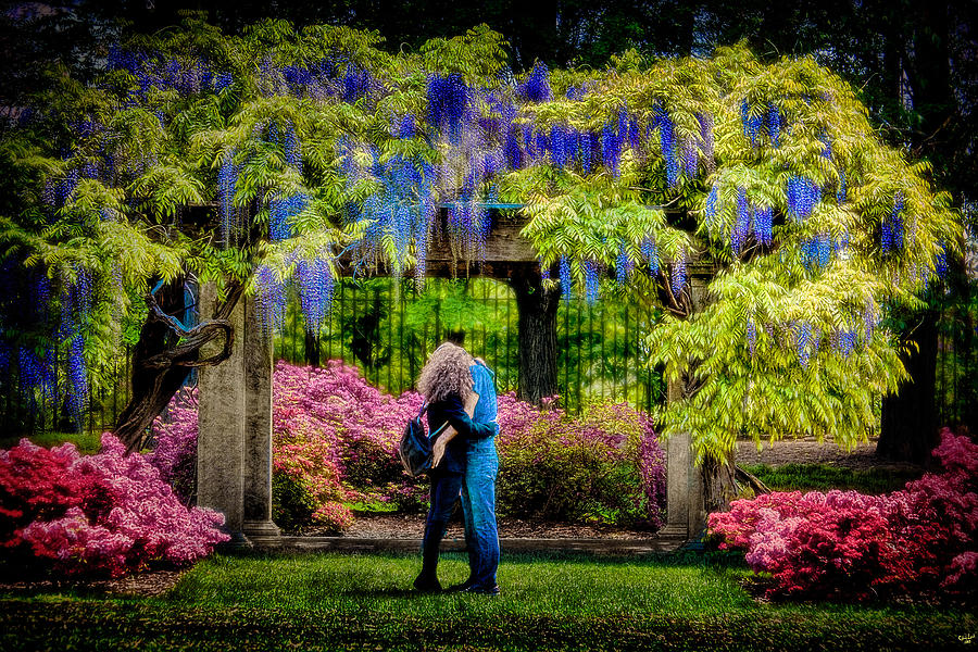 Spring Photograph - New York Lovers In Springtime by Chris Lord