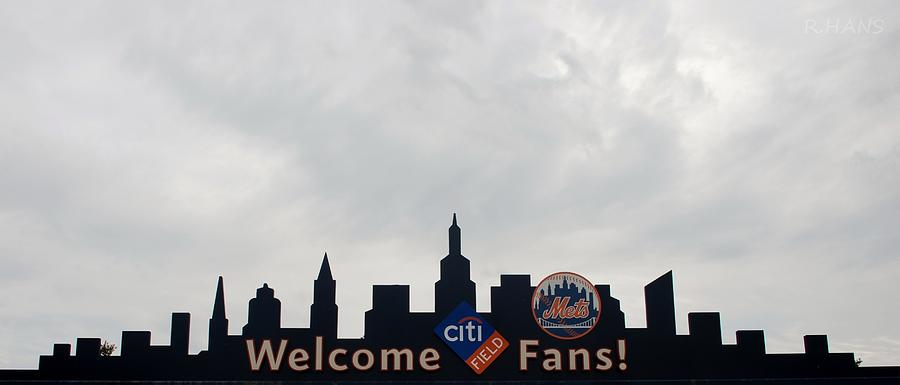 Shea Stadium Photograph - New York Mets Skyline by Rob Hans