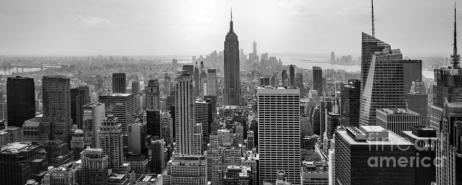Empire State Building Photograph - New York Moody Skyline  by Az Jackson