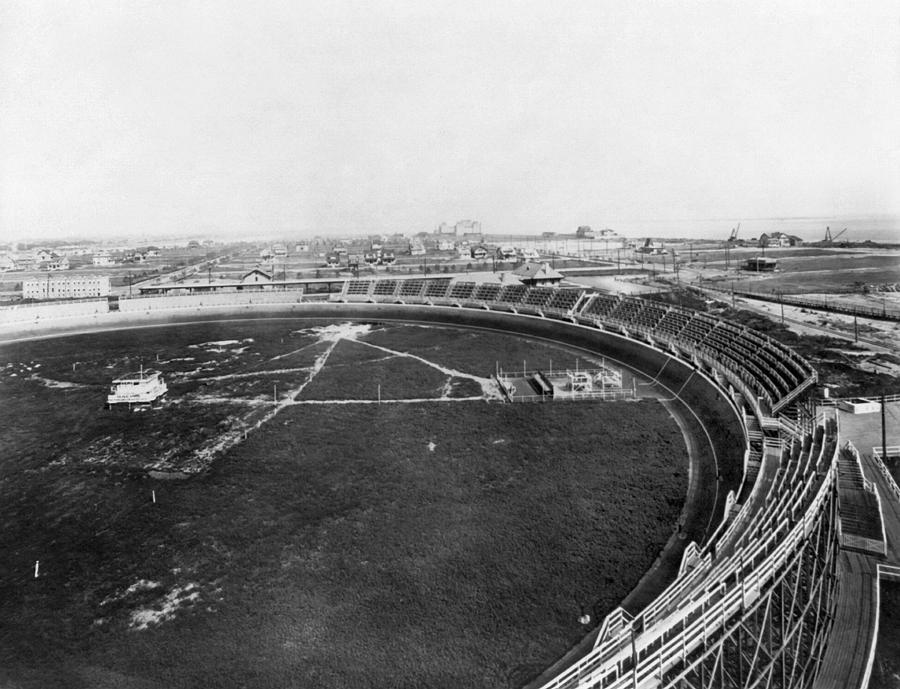 1912 Photograph - New York Motordrome, C1912 by Granger
