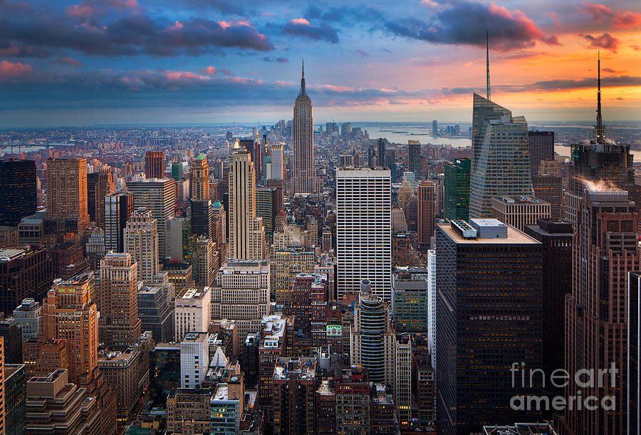 America Photograph - New York New York by Inge Johnsson