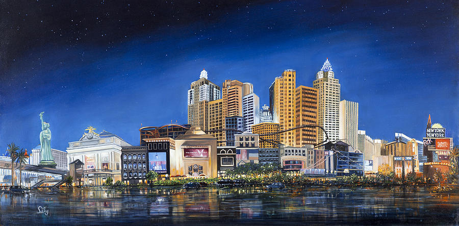 City Scape Painting - New York New York by Lily Adamczyk