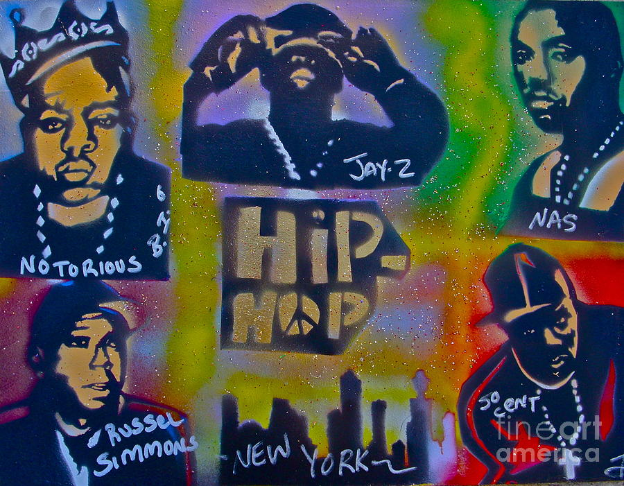 Hip Hop Painting - New York New York Too by Tony B Conscious