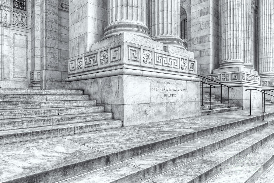 Lovely America Photograph   New York Public Library Columns And Stairs Iv By  Clarence Holmes