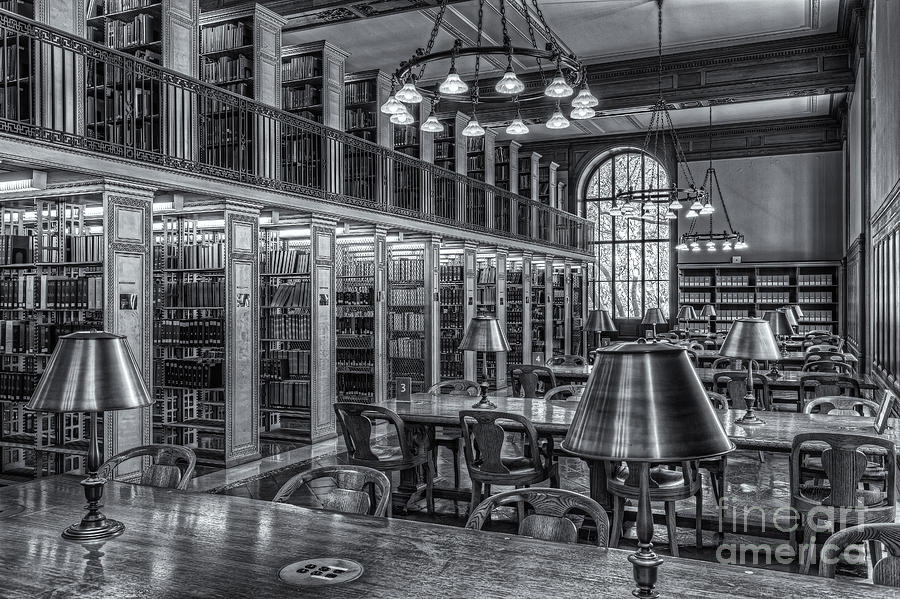 Clarence Holmes Photograph - New York Public Library Genealogy Room II by Clarence Holmes