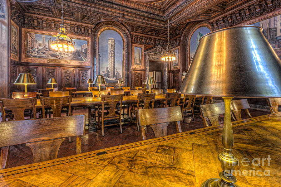 America Photograph - New York Public Library Periodicals Room IIi by Clarence Holmes