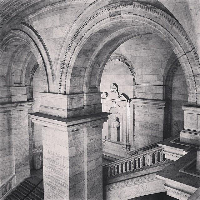 New York Public Library Photograph by Randy Lemoine