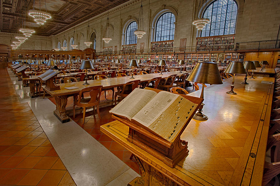 The New York Public Library Photograph - New York Public Library Rose Main Reading Room  by Susan Candelario