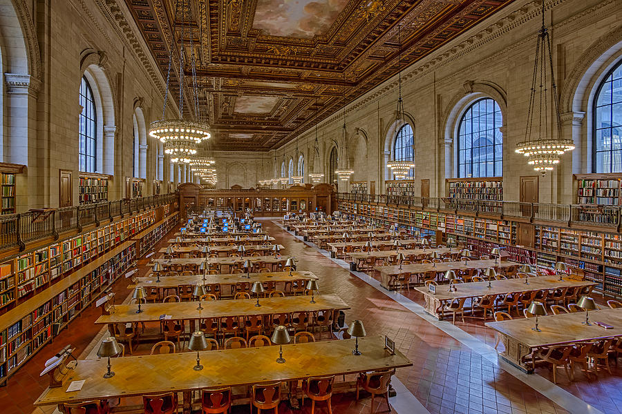 The New York Public Library Photograph - New York Public Library Rose Room  by Susan Candelario