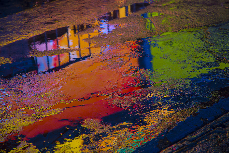 Pavement Photograph - New York Reflections by Garry Gay