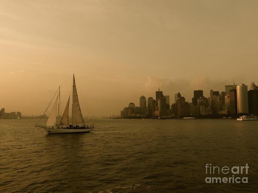 Sailboat Photograph - New York Sailing by Avis  Noelle