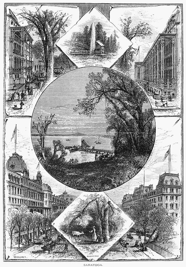 1874 Painting - New York Saratoga, 1874 by Granger