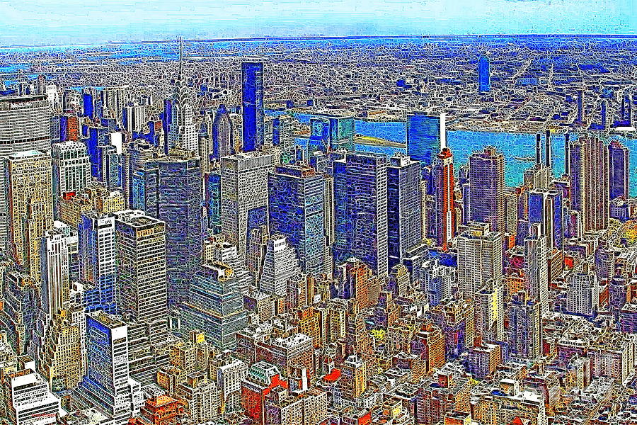 Woolworth Building Photograph - New York Skyline 20130430v3 by Wingsdomain Art and Photography
