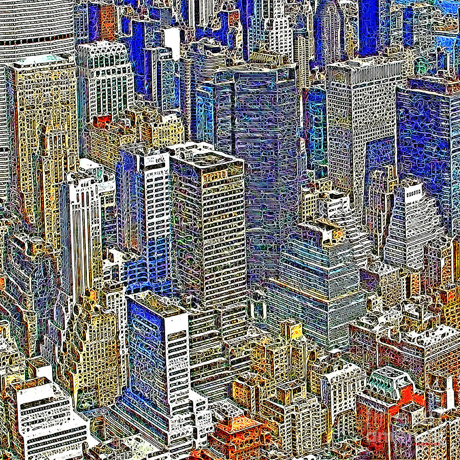 Woolworth Building Photograph - New York Skyline 20130430v5-square by Wingsdomain Art and Photography