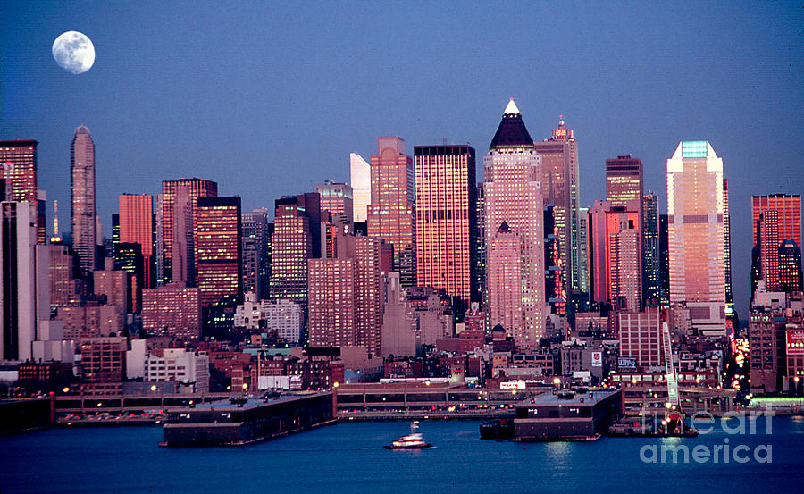Nyc Photograph - New York Skyline At Dusk by Anthony Sacco