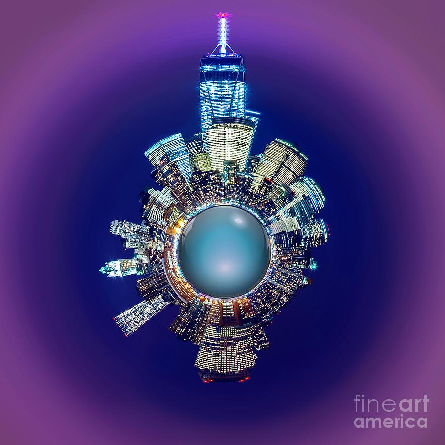 New York Skyline Circagraph Photograph