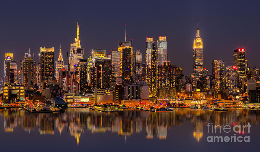 New York Skyline From New Jersey Photograph By Jerry