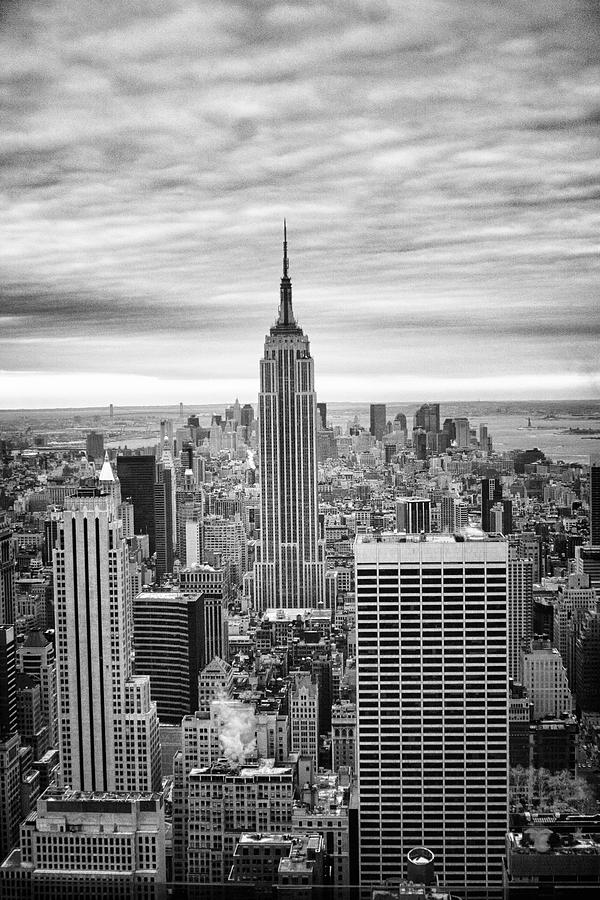 Black And White Photo Of New York Skyline