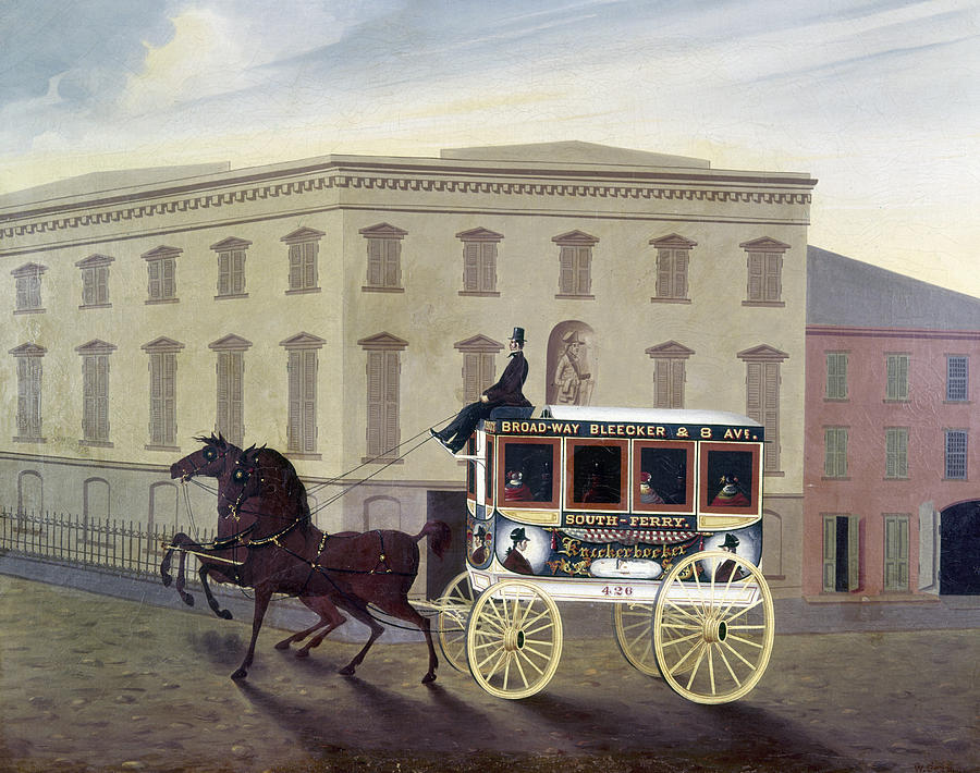19th Century Painting - New York Stagecoach by Granger
