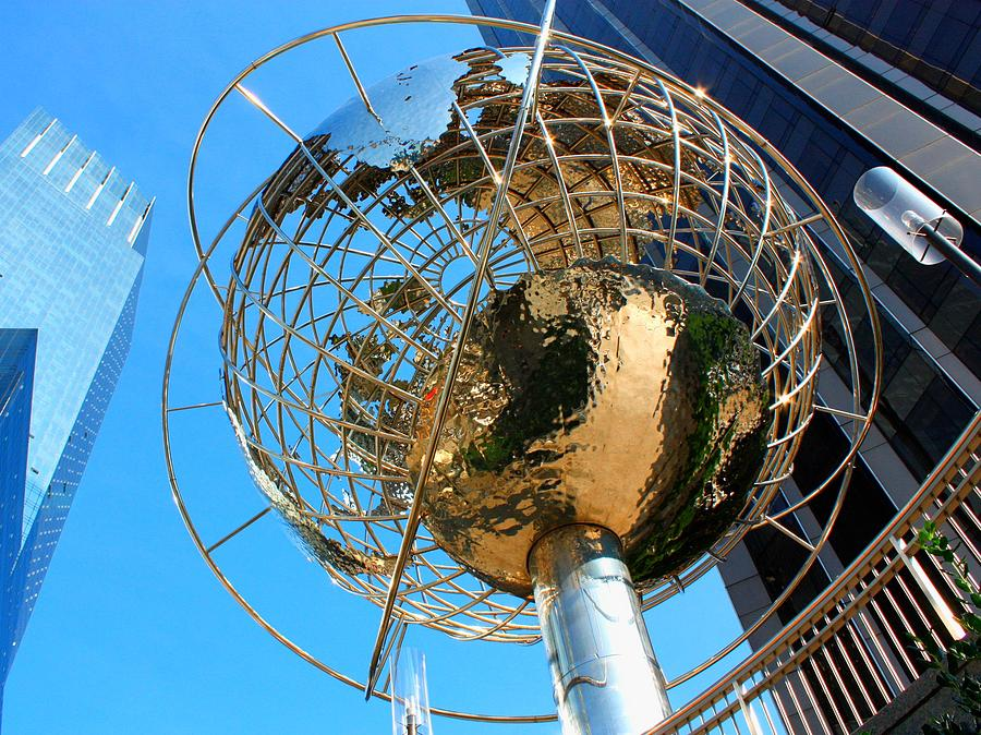 Nyc Photograph - New York Steel Globe by Jenny Hudson