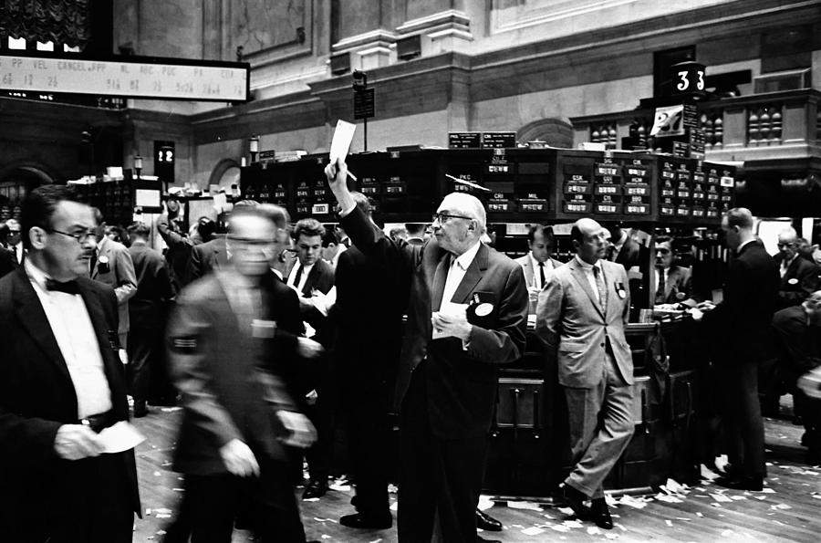 1963 Photograph - New York Stock Exchange 1963 by Mountain Dreams