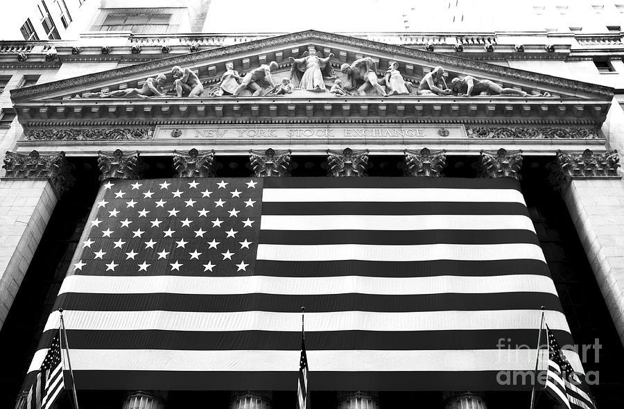 New York Stock Exchange Photograph - New York Stock Exchange by John Rizzuto