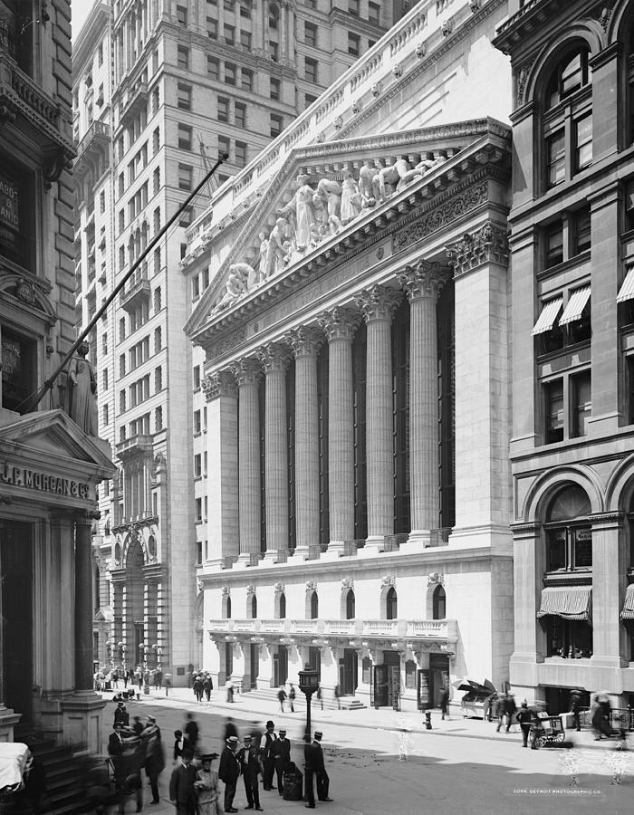 New York Stock Exchange, New York In 1904 Photograph By