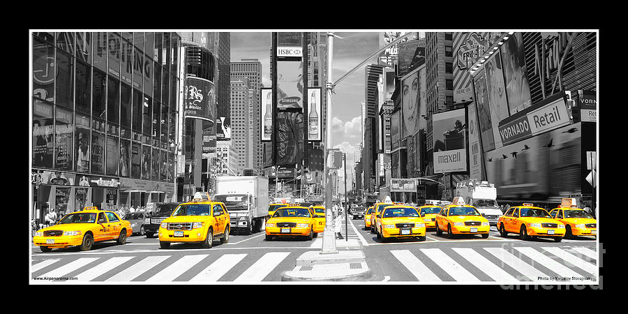 Poster New York Taxi.New York Taxi Photograph By Yaroslav Storojinsky