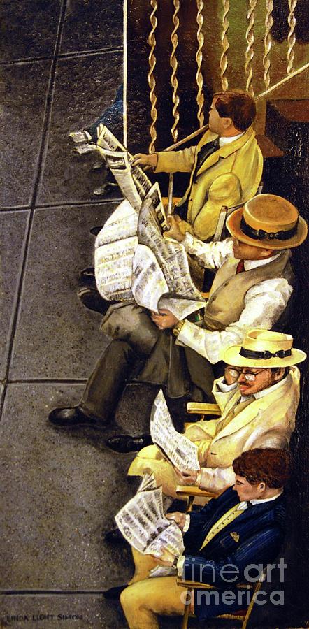 Newspaper Painting - New York Times by Linda Simon