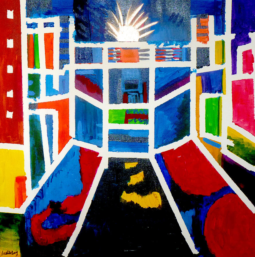 New York Painting - New York Times Square  By Janelle Dey by Janelle Dey