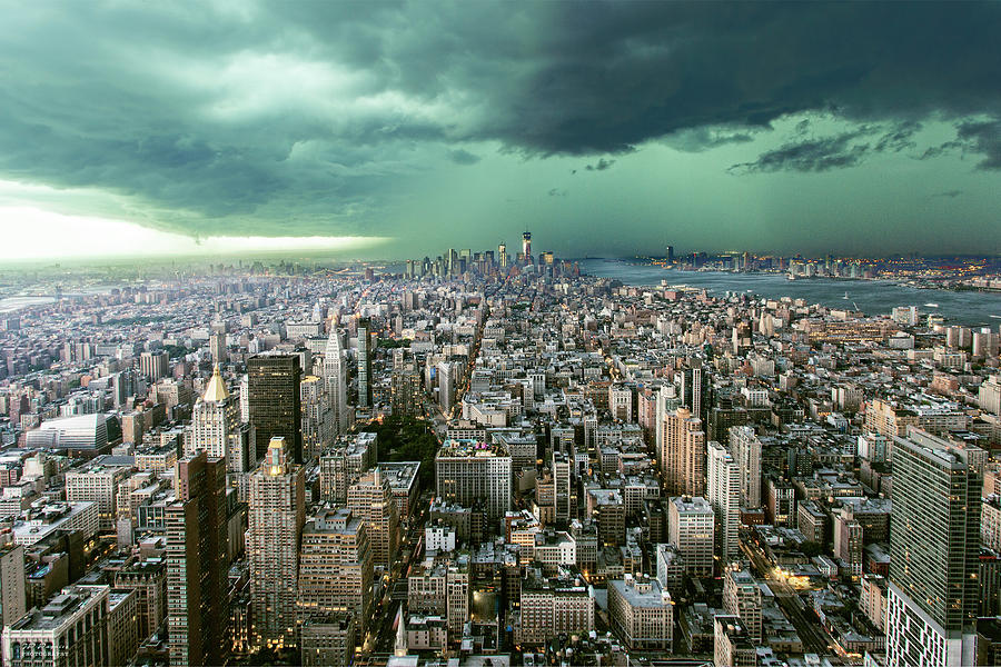 New York Photograph - New-york Under Storm by Pagniez