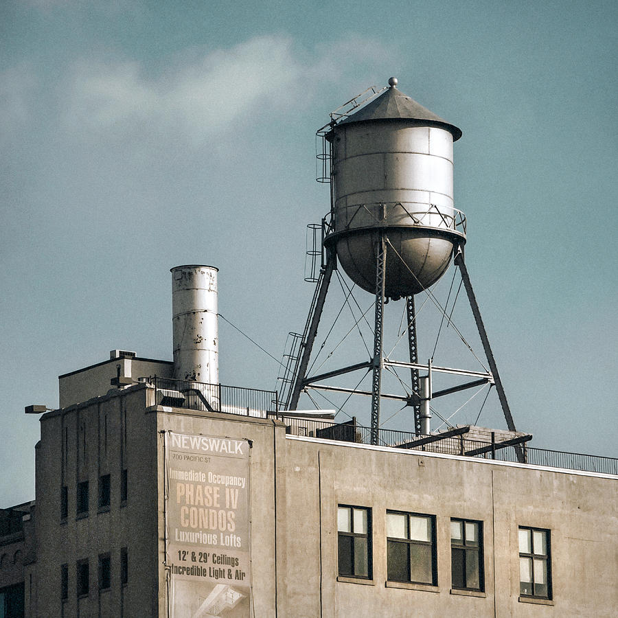 new york water towers 10 photograph by gary heller. Black Bedroom Furniture Sets. Home Design Ideas