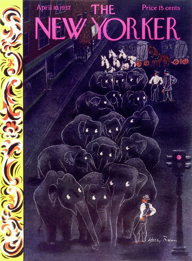 New Yorker April 10 1937 Painting by Harry Brown