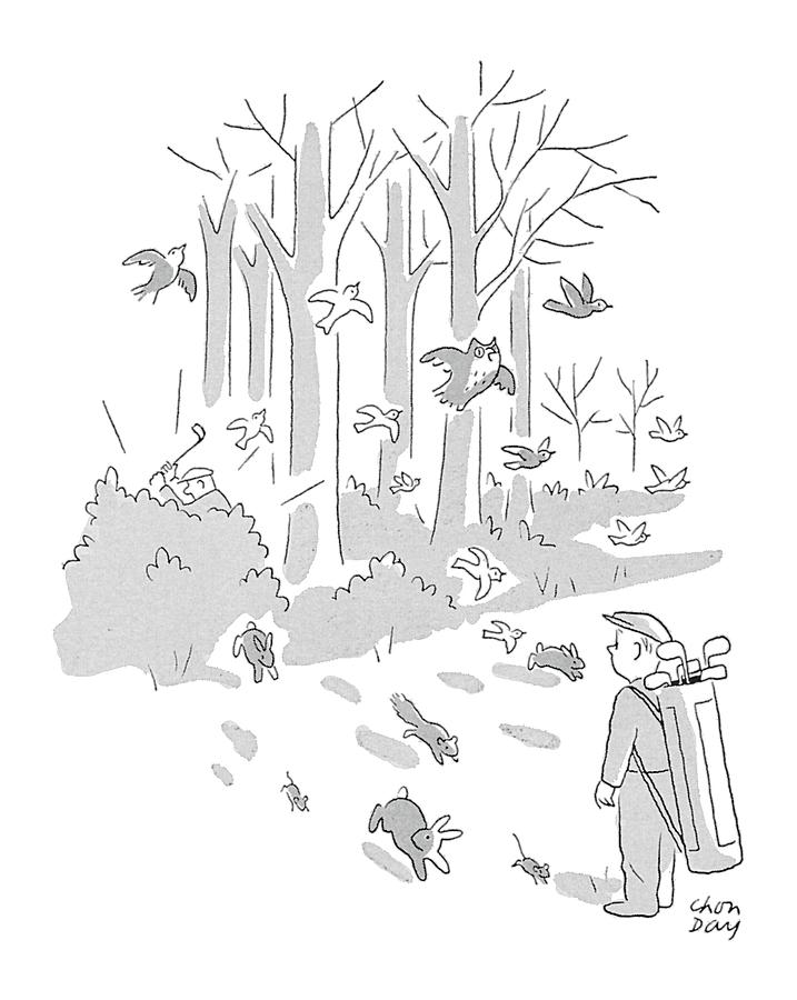New Yorker April 10th, 1954 Drawing by Chon Day