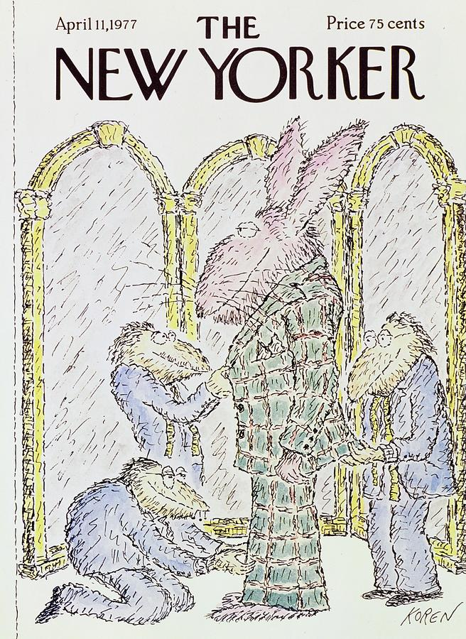 New Yorker April 11th 1977 Painting by Edward Koren