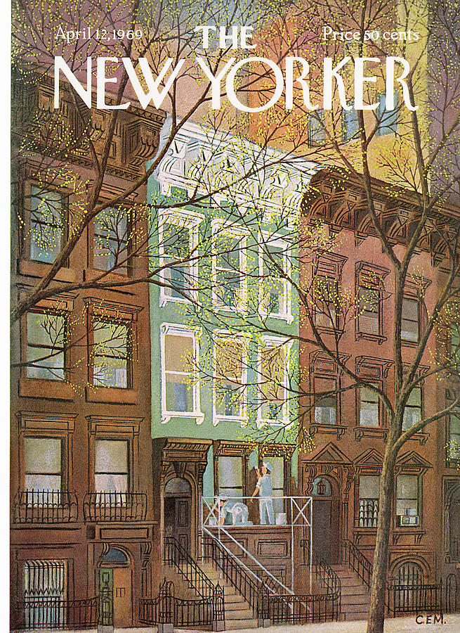 Work Painting - New Yorker April 12th, 1969 by Charles E Martin