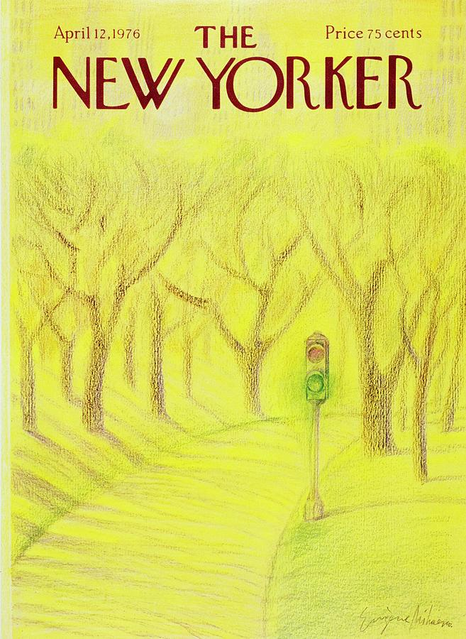 Illustration Painting - New Yorker April 12th 1976 by Eugene Mihaesco