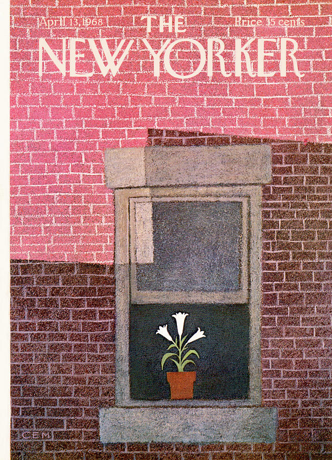 New Yorker April 13th, 1968 Painting by Charles E Martin