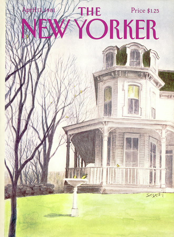 New Yorker April 13th, 1981 Painting by Charles Saxon