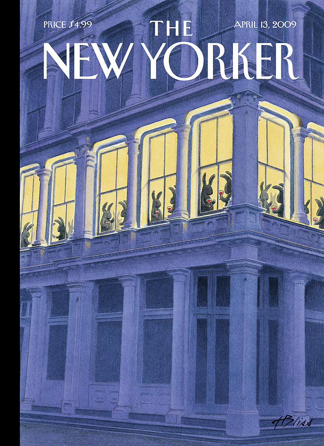 New Yorker April 13th, 2009 Painting by Harry Bliss