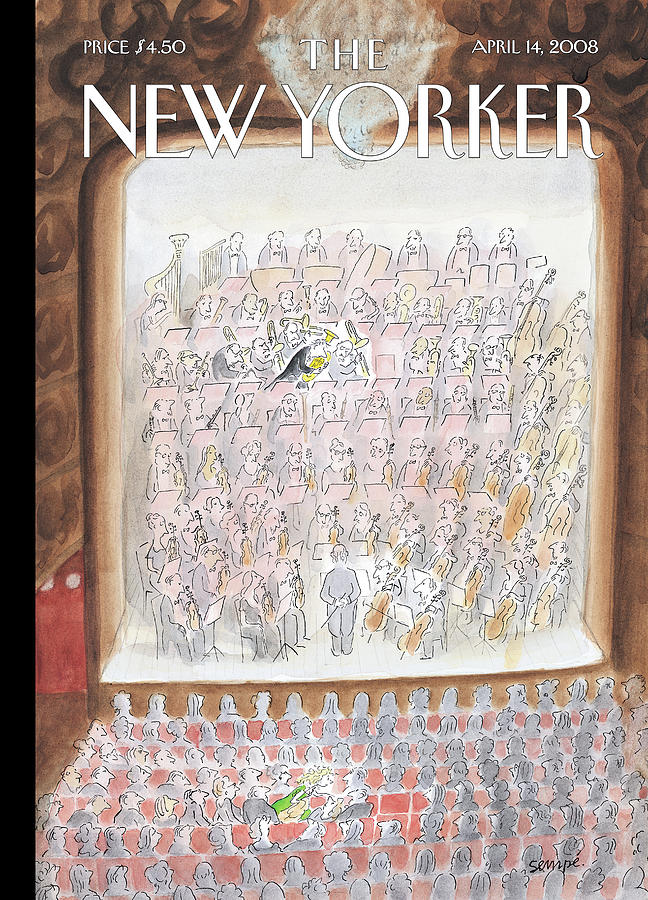 New Yorker April 14th, 2008 Painting by Jean-Jacques Sempe