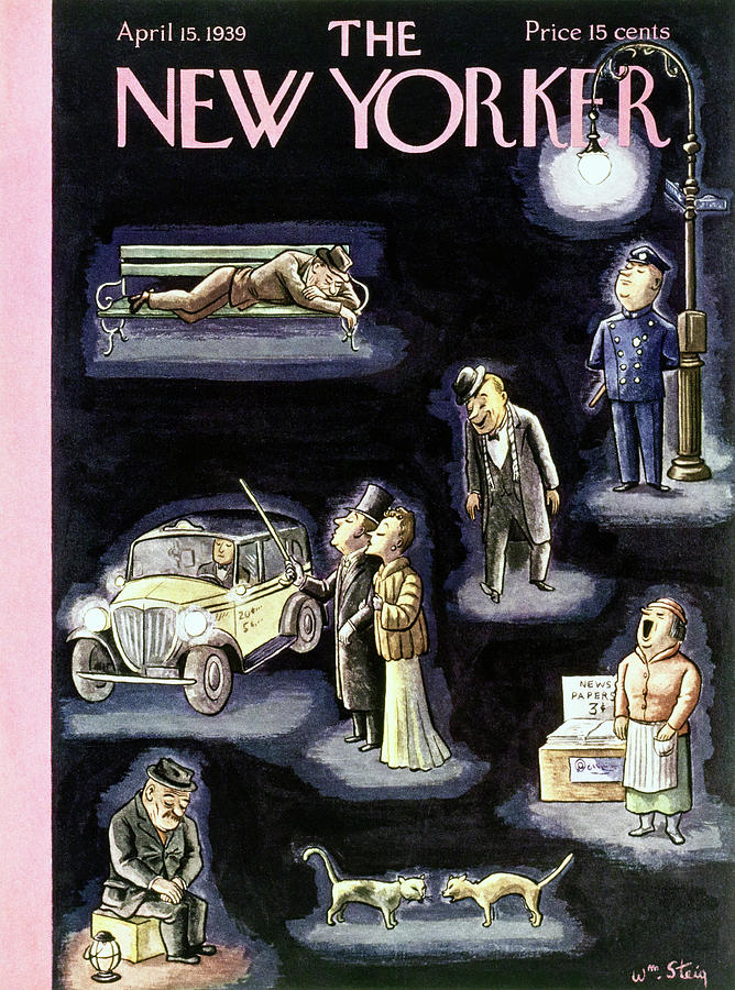 New Yorker April 15 1939 Painting by William Steig